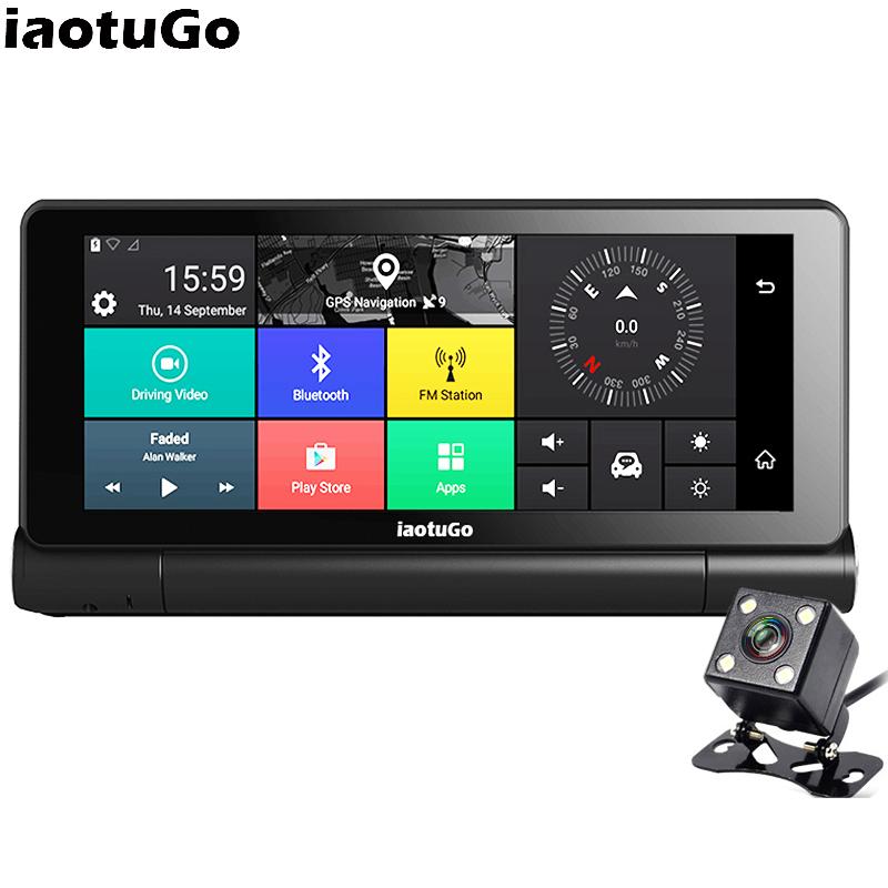 [해외]iaotu? 6.86 &? ? ???? ?? GPS DVR Navigator? ? ???? ?? 5.0 4G SIM 슬롯 1280 * 480 블루투스 와이파이 AVIN 듀얼 카메라 레코더 1080P/iaotuGo 6.86& 안드로이드 GPS DVR Nav