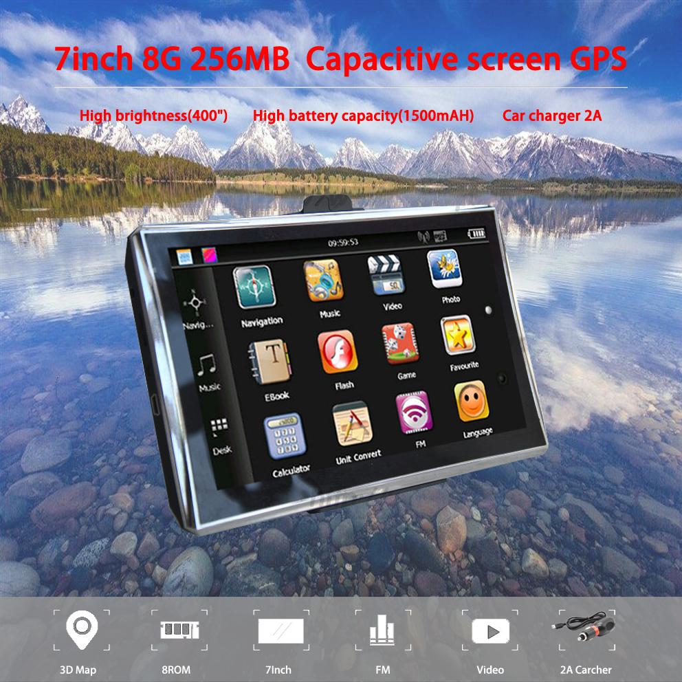 [해외]Oriana x7 7 인치 GPS 네비게이션 용량 성 화면 256MB 8GB 자동차 트럭 토 Nav Navigator 유럽 무료지도 러시아 Navitel/Oriana x7 7 inch GPS Navigation Capacitive screen 256MB 8GB