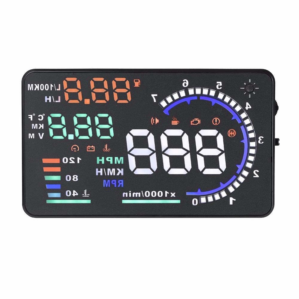 [해외]자동 GPS 자동차 HUD 헤드 디스플레이 자동 Windshied 반사 화면 속도 디스플레이 A8 5.5 & & OBD II/Auto GPS Car HUD Head Up Display Auto Windshied Reflective Screen Sp