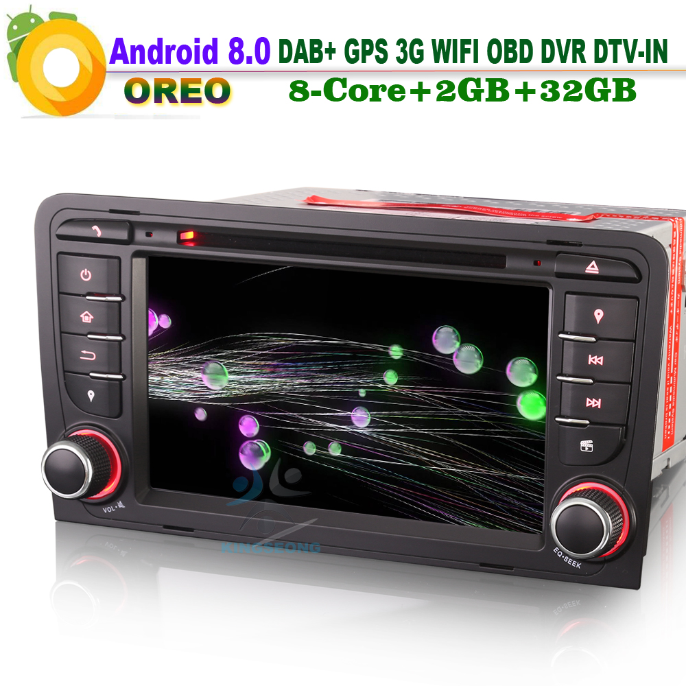 [해외]7 & ? ? ?? AUDI A3 S3 RS3 RNSE-PU를8.0 DAB + 토 Navi Autoradio WiFi 3G DVD OBD DTV CD 라디오 Bluetooth RDS 차 GPS 항법/7& 안드로이드 8.0 DAB+ Sat Navi Auto