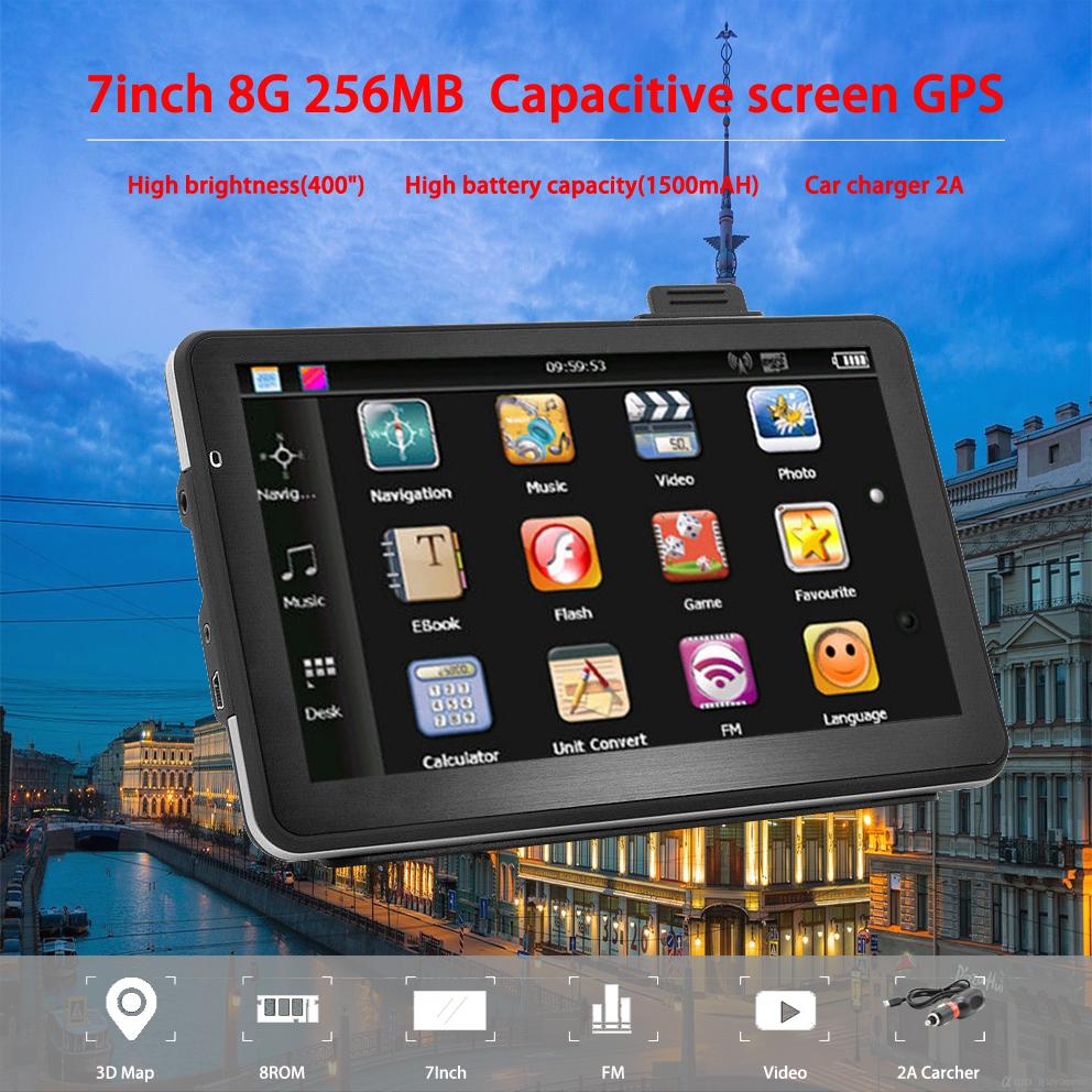 [해외]Oriana 7 인치 GPS 네비게이션 용량 성 화면 256MB 8GB 자동차 트럭 토 Nav Navigator 유럽 무료지도 러시아 Navitel/Oriana  7 inch GPS Navigation Capacitive screen 256MB 8GB Car T