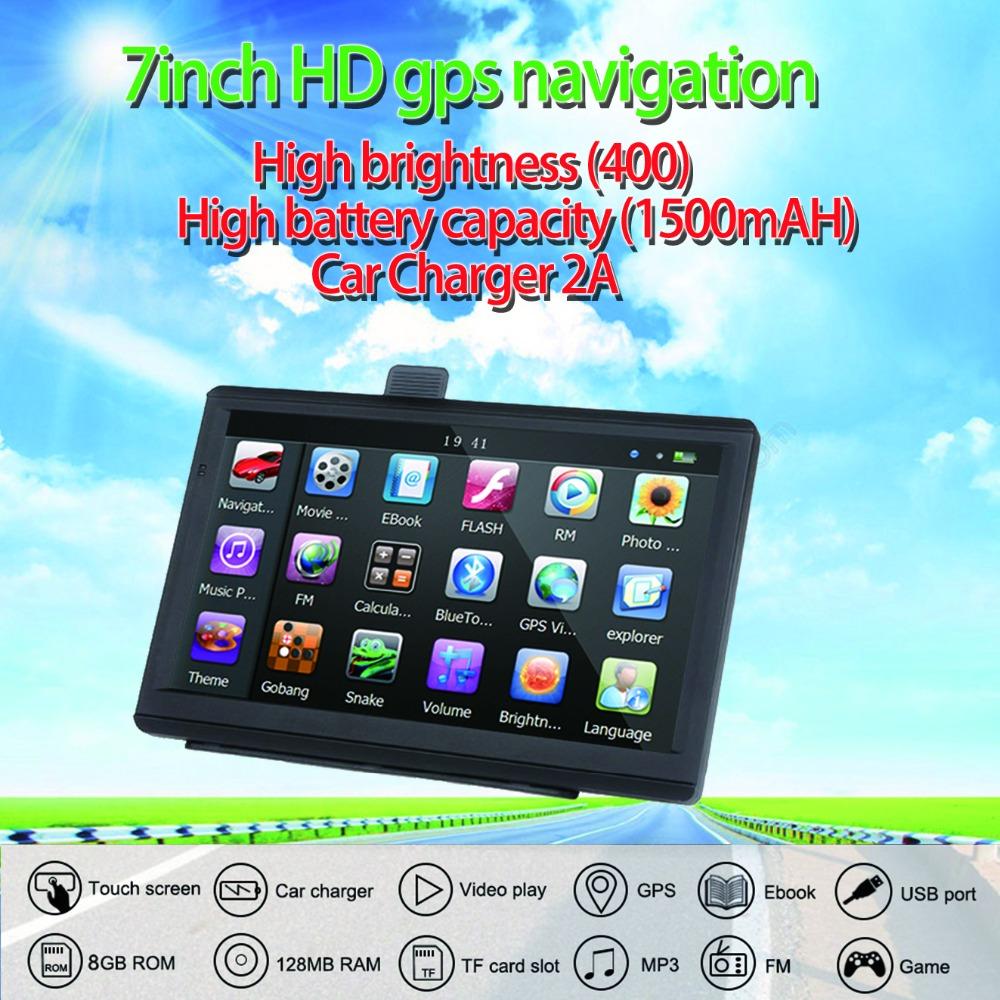 [해외]Oriana 733 7 인치 GPS 네비게이션 자동차 트럭 GPS 네비게이터 128MB + 8GB HD 스크린 토 네비게이션 최신 유럽지도 러시아 네비 텔/Oriana 733 7 Inch Gps Navigation Car Truck Gps Navigator 12