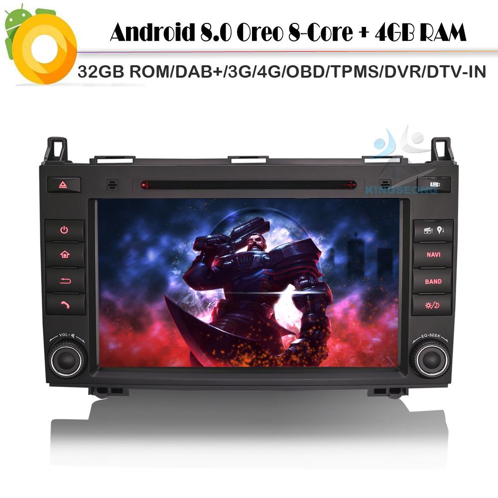 [해외]8 & amp; 8.0 Autoradio Navi DAB + 자동차 GPS 네비게이션 플레이어 WiFi 4G DVD SD BT 메르세데스 A / B Klasse W245 블루투스 토 나비/8&안드로이드 8.0 Autoradio Navi DAB+ Car G