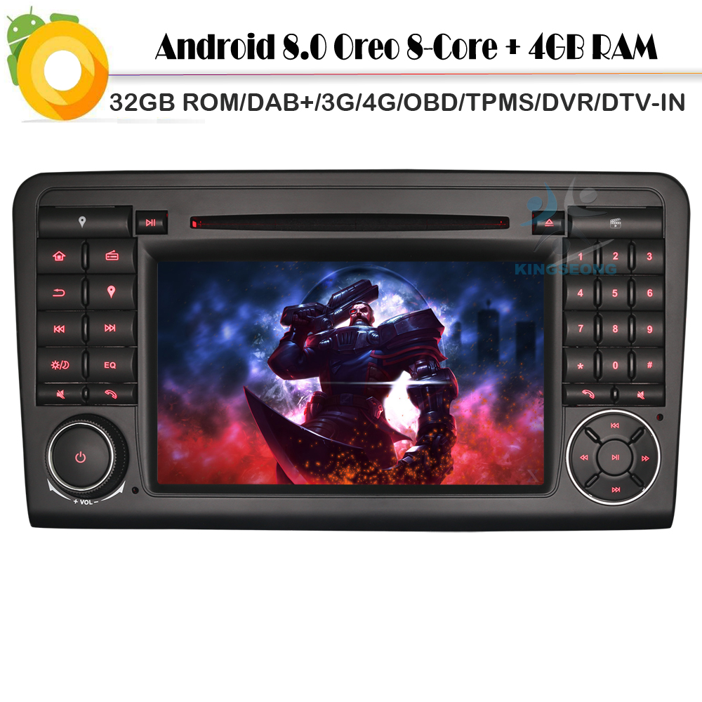 [해외]? ? ???? ?? 8.0 메르세데스 벤츠 ML / GL 클래스 W164 X164에 대 한 8.0 자동차 스테레오 DAB + CD GPS SatNav DVD WiFi 4g OBD SD 자동차 GPS 탐색 플레이어/안드로이드 8.0 Car Stereo DAB+C
