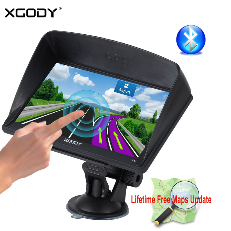 [해외]XGODY 7 및 자동차 트럭 GPS 네비게이션 128M + 8GB 용량 성 화면 토 Nav FM 네비게이터 + 리버스 카메라 러시아 미국 AU 2018 EU 무료지도/XGODY 7& Car Truck GPS Navigation 128M+8GB Capacitiv