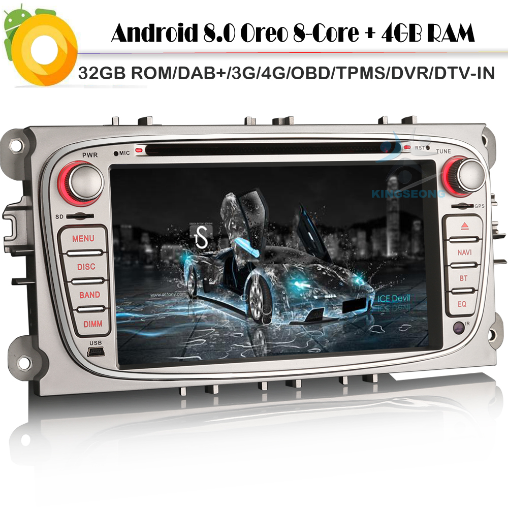 [해외]Octa Core DAB +? ? ???? ?? 8.0 포드 C-Max 갤럭시 WiFi 4G CD RDS BT DVD USB OBD SD 토 Navi에 대 한 Autoradio 자동차 GPS 탐색 플레이어/Octa Core DAB+ 안드로이드 8.0 Autora