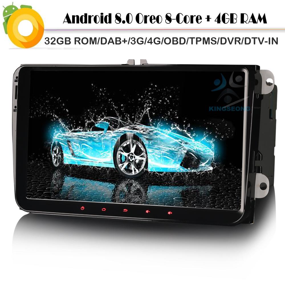 [해외]옥타 코어? ? ???? ?? 8.0 폭스 바겐 Touran WiFi 3G 4G Autoradio RDS BT USB SD DVR OBD DVT-IN 자동차 GPS 탐색 플레이어에 대 한 DAB + 토 Nav/Octa Core 안드로이드 8.0 DAB+ Sat