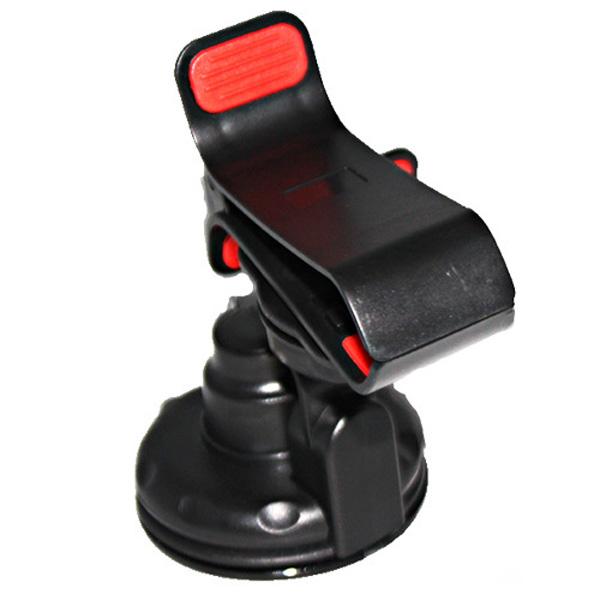 [해외]휴대폰 / MP3 / GPS / PDA (블랙) 용 범용 360 회전식 클립 - 온 스타일 카 마운트 홀더 스탠드 크래들/Universal 360 Rotating Clip-on Style Car Mount Holder Stand Cradle for Cellpho