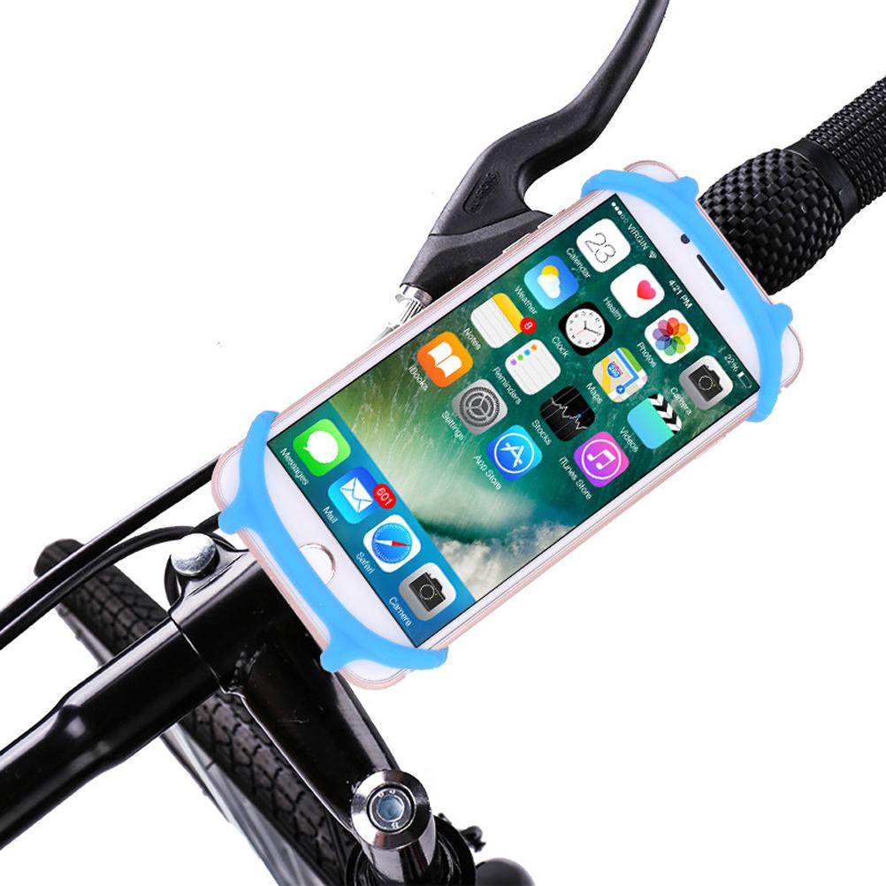 [해외]대부분의 스마트 폰 및 자전거에 대 한 내구성이 아닌 미끄럼 실리콘 프리미엄 자전거 마운트 휴대 전화 홀더 유니버설 크래들/Durable Non-Slip Silicone Premium Bike Phone Mount Mobile Cellphone Holder Un
