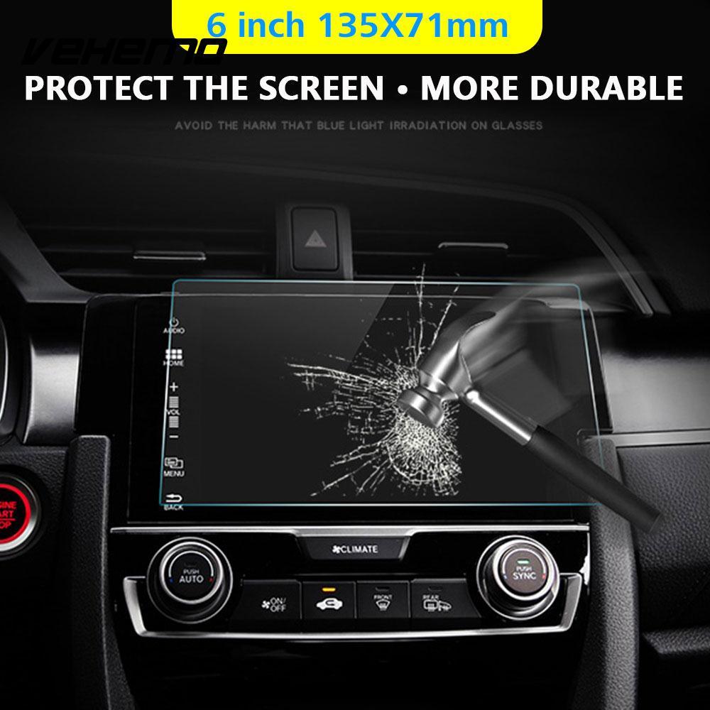 [해외]?HD 6inch 자동차 DVD 보호 필름 Mp5 강화 유리 안티 - 지문 GPS 화면 보호기 탐색 안티 스크래치/ HD 6inch Car DVD Protective Films Mp5 Tempered Glass Anti-Fingerprint GPS Screen
