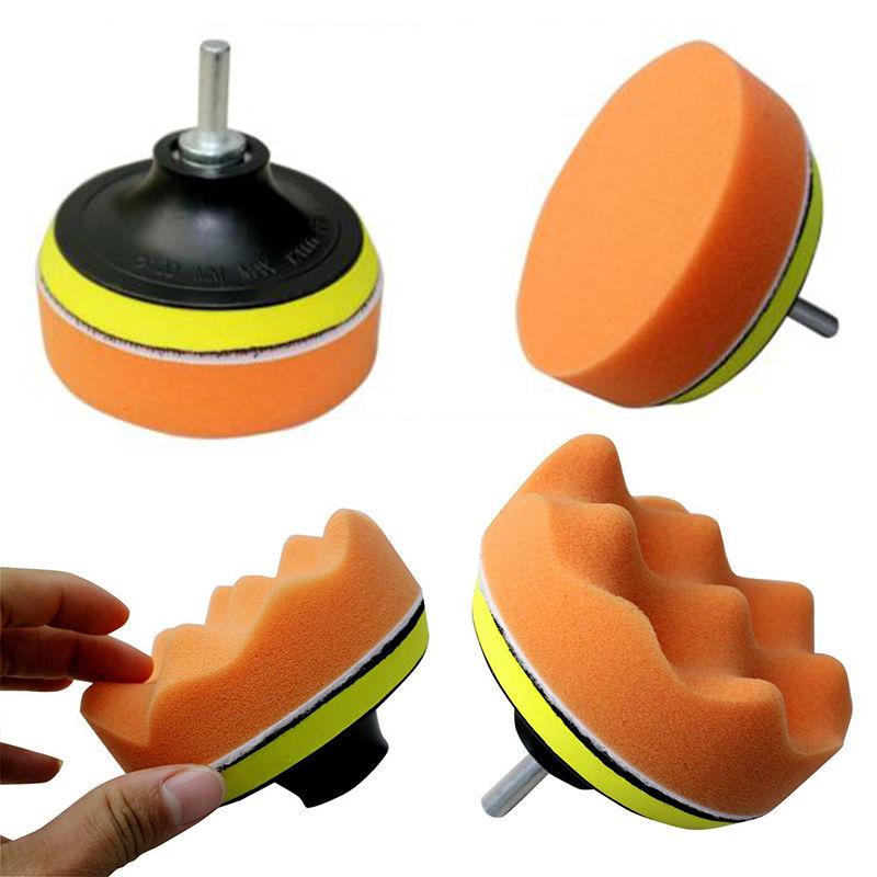 [해외]Roadlover 새로운 5pcs 보편적 인 고품질 갯솜 광택있는 완충기 패드 자동 거품 Buffing 세트 장비 + 폴란드어 공구를드릴 어댑터/Roadlover New 5pcs Universal high quality Sponges Polishing Buffe