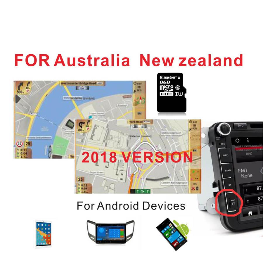 [해외]2018 버전 오스트레일리아 & amp; 뉴질랜드 GPS MAP 8G 카드는? 장치 카 네비게이션/2018 version Australia & New Zealand GPS MAP 8G card for 안드로이드 device car navigatio