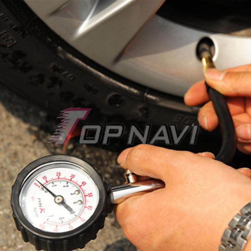 [해외]Topnavi 자동차 트럭 자동 모터 타이어 타이어 공기 압력 게이지 다이얼 미터 테스터/Topnavi Car Truck Auto Motor Tyre Tire Air Pressure Gauge Dial Meter Tester
