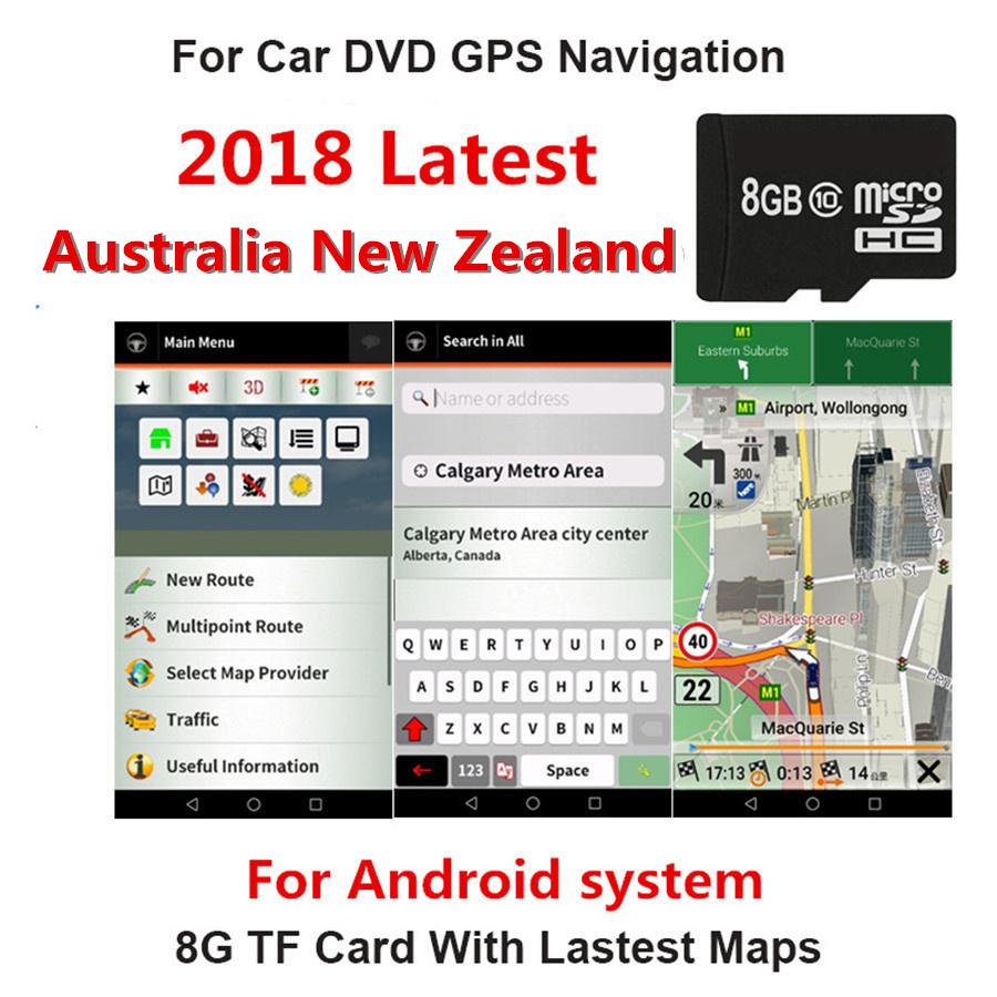 [해외]적합? ? ???? ?? 호주 자동차 GPS 네비게이션 8GB 마이크로 SD 카드 시스템지도/Fit for 안드로이드  System Car Auto GPS Navigation 8GB Micro SD Card for Australia New Zealand Map