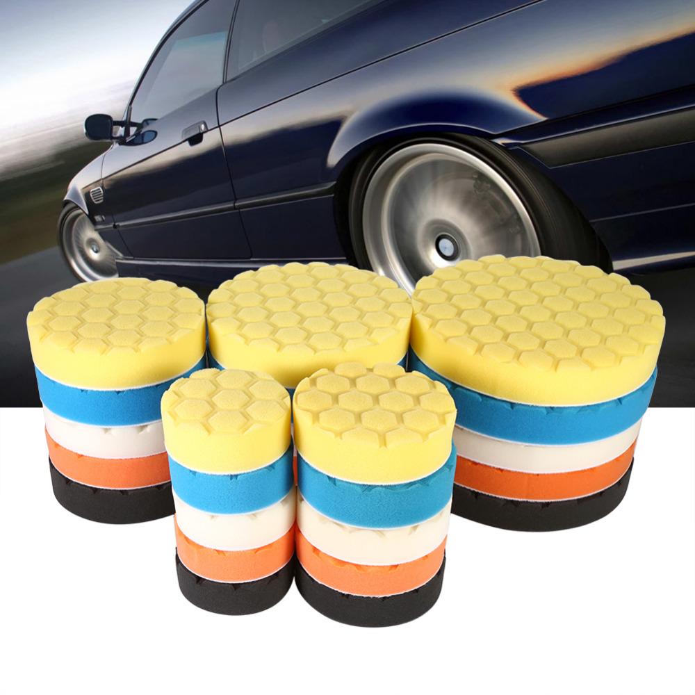 [해외]5pcs / Set 3/4/5/6/7 인치 자동차 폴리 셔 왁 스에 대 한 버핑 스폰지 연마 패드 손 도구 키트/5pcs/Set 3/4/5/6/7 Inch Buffing Sponge Polishing Pad Hand Tool Kit For Car Polisher
