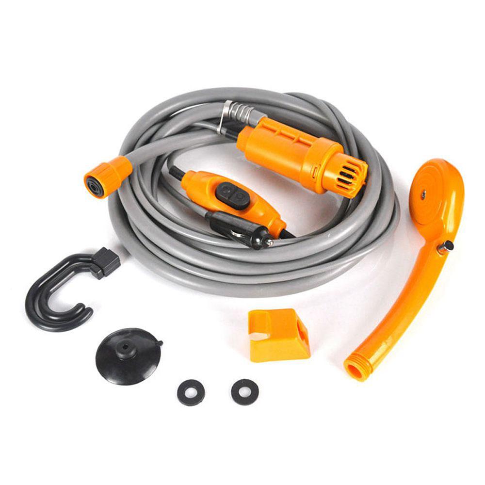 [해외]최신 자동차 세탁기 12V 야영 샤워 DC 휴대용 자동차 샤워 와셔 세트 전기 펌프 야외 야영 여행/Newest Car Washer 12V Camping Shower DC Portable Car Shower Washer Set Electric Pump Outdo