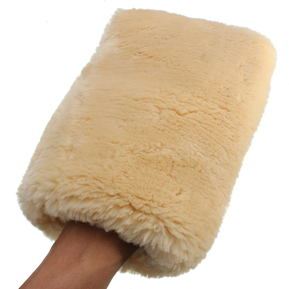 [해외]1 조각 24 x 16cm Lambswool Wash Mitt 부드러운 양모 자동차 청소 장갑/1Piece 24 x 16cm Lambswool Wash Mitt Soft Sheepskin Car Cleaning Glove