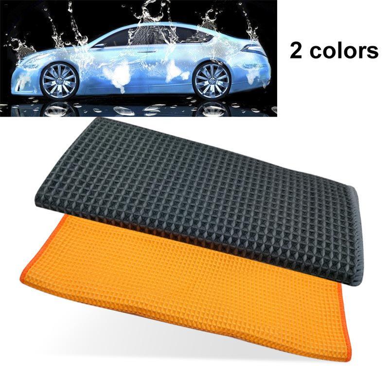 [해외]?와플 스타일 세차 타올 린트 프리 비 페이딩 헝겊 마이크로 화이버 자동차 타올 천 브러시 자동 세차/ Waffle Style Car Wash Towel Lint-Free Non-Fading Cloth Microfiber Car Cleaning Towel Clo