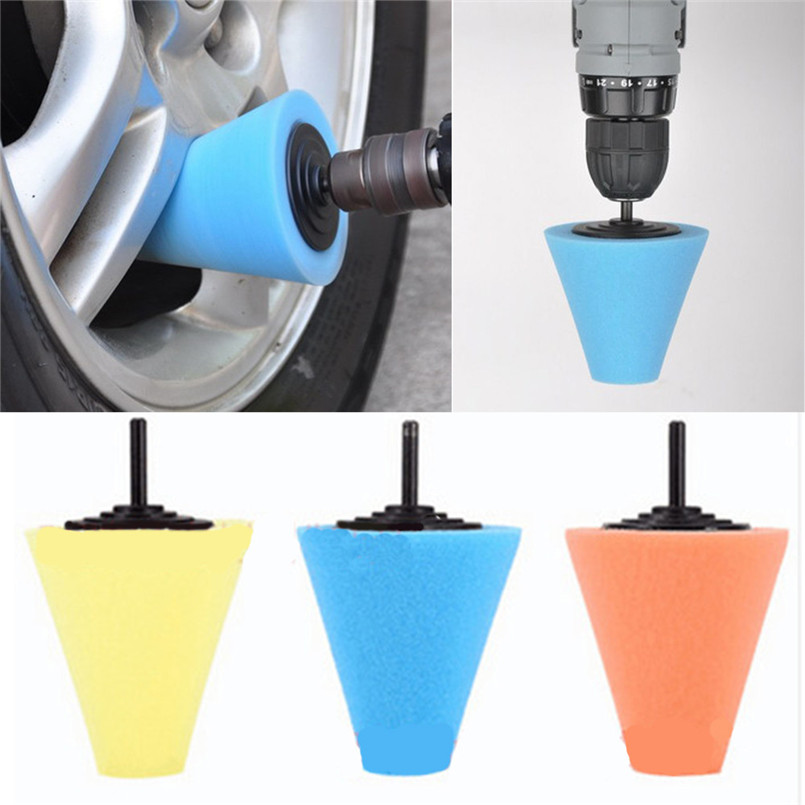 [해외]휠 허브 자동차 폴리싱 버핑 샹크 폴리싱 스폰지 콘 금속 폼 패드 자동차 6MM/Wheel Hub Car Polish Buffing Shank Polishing Sponge Cone Metal Foam Pad Car 6MM