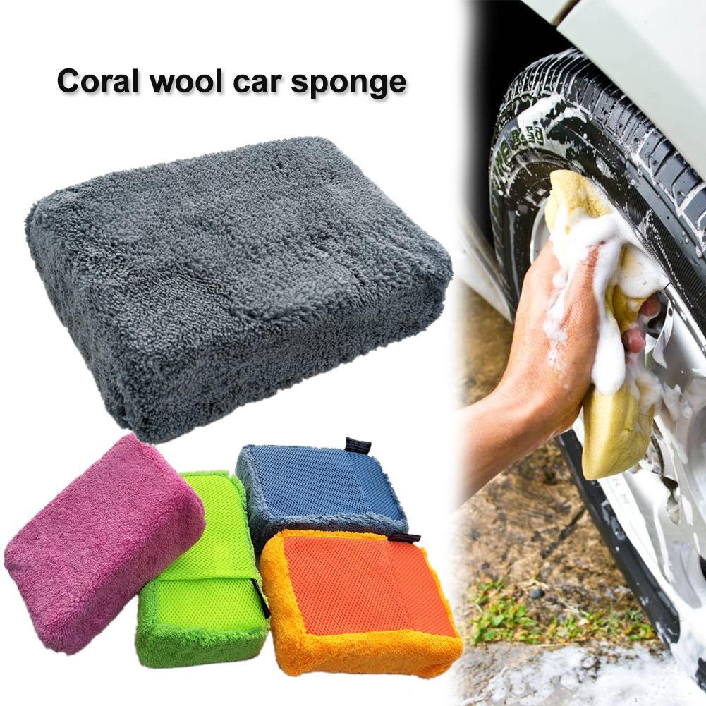 [해외]자동차 관리 자동 세척 도구 고밀도 산호 양털 세차 스폰지 슈퍼 흡수성 LintPocket 메쉬 구멍/Car Care Auto Washing Tools High Density Coral Fleece Car Wash Sponge Super Absorbent Lin