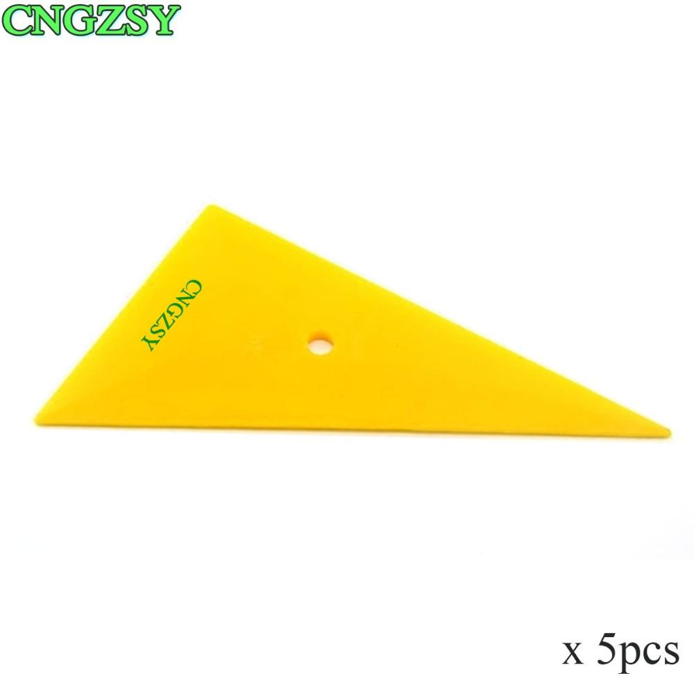 [해외]5pcs 전문 창 색조 삼각형 필름 옐로우 스 크레이 퍼 유리 깨끗 한 자동차 비닐 스티커 애플리케이터 도구 이동 코너 스퀴지 5A05/5pcs Professional Window Tint Triangle Film Yellow Scraper Glass Clean