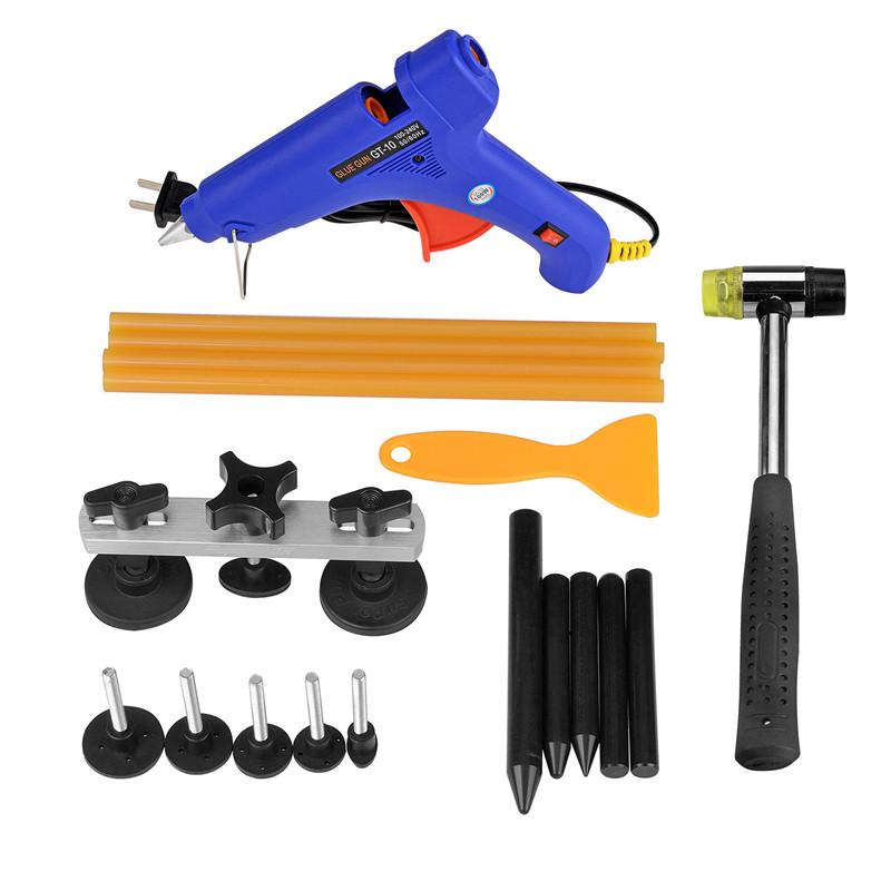 [해외]PDR 도구 키트 무 페인트 덴트 수리 탭 다운 접착제 총 스틱 셔블 해머 우박 제거 도구 세트 자동차 용품/PDR Tool kits Paintless Dent Repair Tap Down Glue Gun Sticks Shovel Hammer Hail Remov