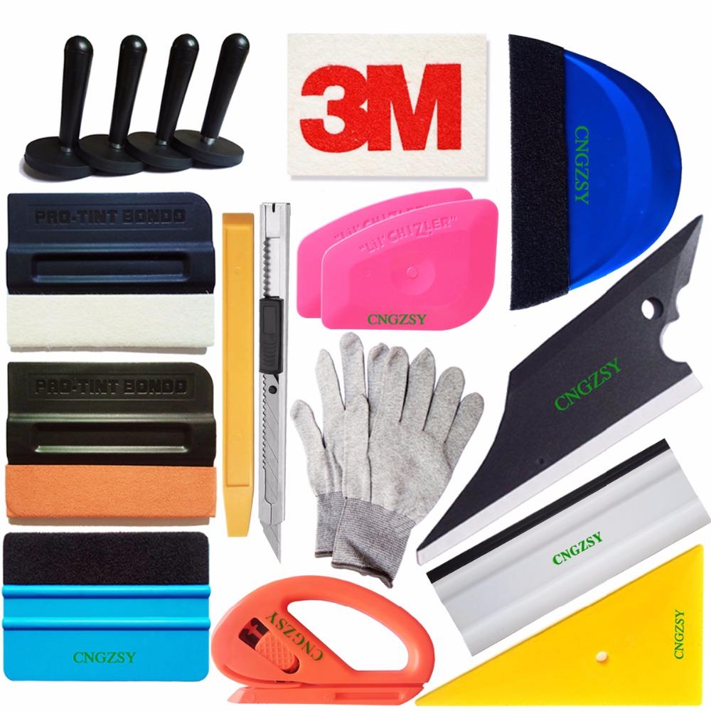 [해외]18pcs 스티커 클리닝 창 Tinting 도구 키트 3M 양모 스퀴지 자석 홀더 비닐 커터 칼 자동차 데칼 필름 포장 도구 K82/18pcs Sticker Cleaning Window Tinting Tool Kit 3M Wool Squeegee Magnet H