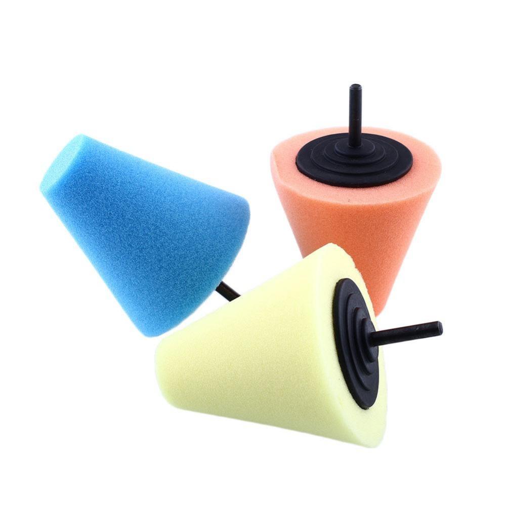 [해외]버니 싱 버핑 연마 콘 스폰지 금속 폼 자동차 휠 버프 도구/Burnishing Buffing Polishing Cone Sponge Metal Foam Car Wheel Buff Tool