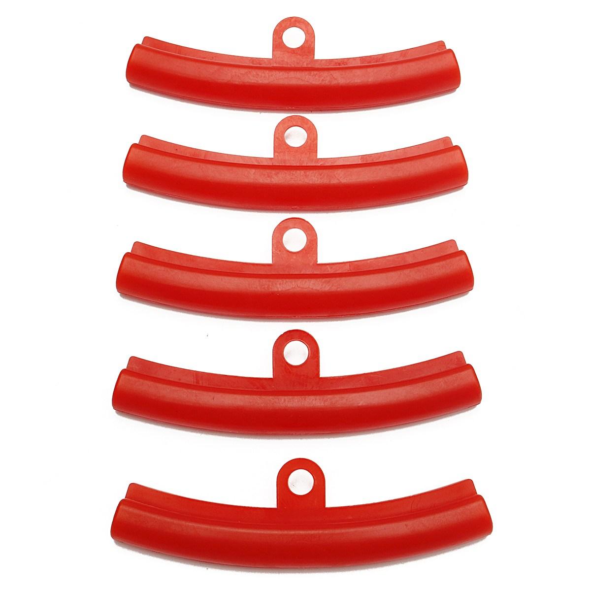 [해외]5pcs 자동차 타이어 빨간색 고무 가드 림 보호기 타이어 바퀴 변경 림 가장자리 보호 도구 폴리에틸렌/5pcs Car Tire Red Rubber Guard Rim Protector Tyre Wheel Changing Rim Edge Protection Too