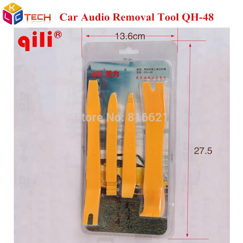 [해외]Qili QH-48 자동차 패널 리무버 키트 차량용 오디오 대시 제거 플라스틱 받침 도구 손질 장치 및 몰딩 제거 도구 세트 패키지 당 4PCS/Qili QH-48 Car Panel Remover kit Car Audio Dash Removal plastic P