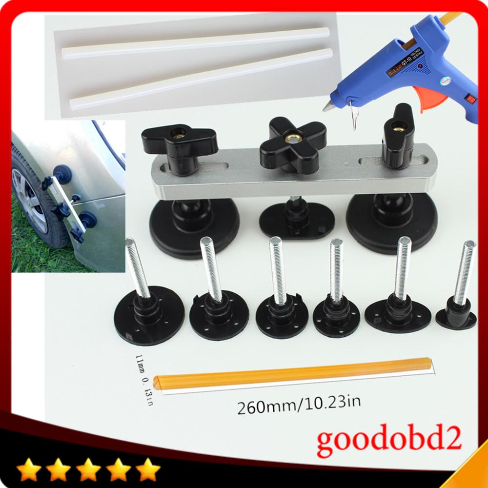 [해외]PDR 공구 조절 가능한 다리 풀러 세트 페인트리스 덴트 리무버 당겨 다리 덴트 repari Toolsglue gun 100W + Glue sticks 2x/PDR tool Adjustable Bridge Puller sets Paintless Dent Remo