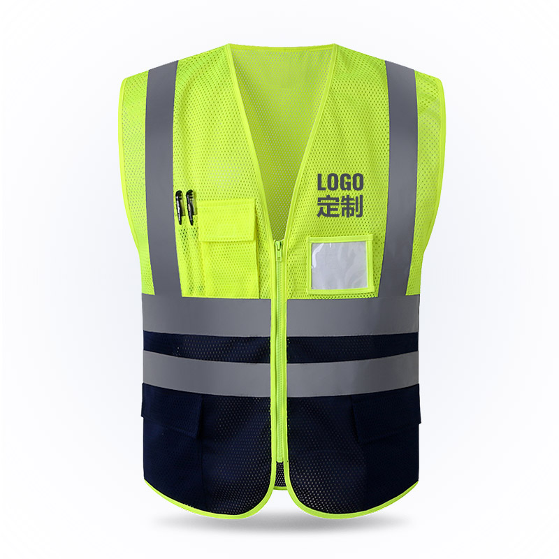 [해외]반사 조끼 메쉬 통기성 건설 안전 보호 복 도로 교통 경고 형광 조끼/Reflective vest mesh breathable construction safety protective clothing road traffic warning fluorescent ve
