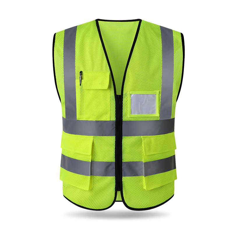 [해외]반사 조끼 건설 지상 메쉬 형광 조끼 의류 교통 안전 보호 코트/Reflective vest construction ground mesh fluorescent vest clothing traffic safety protective coat