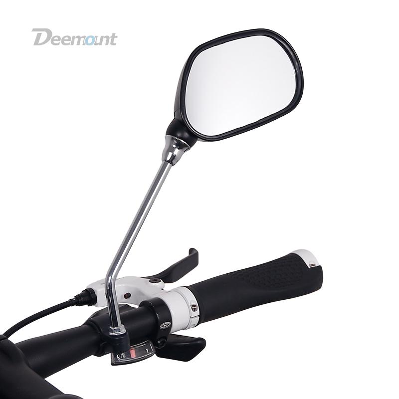 [해외]Deemount 1 쌍 자전거 후면보기 미러 자전거 사이클링 넓은 범위 뒤로 시력 반사경 각도 조정 가능한 왼쪽 오른쪽 거울