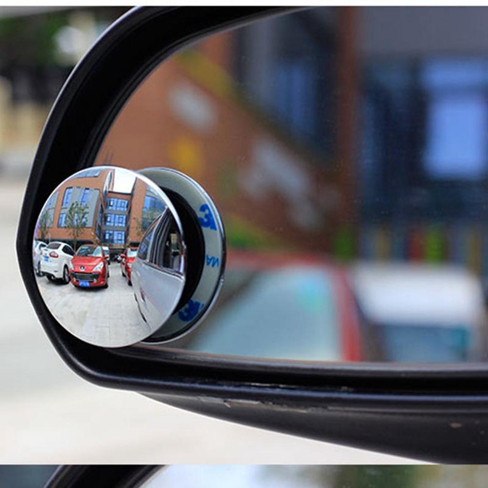 [해외]2pcs 주차 안전을자동차 Rearview 볼록 거울 360 Degree Rotable Rimless 범용 광각 Round blind spot mirror/2pcs Car Rearview Convex Mirror for parking safety 360 Degr