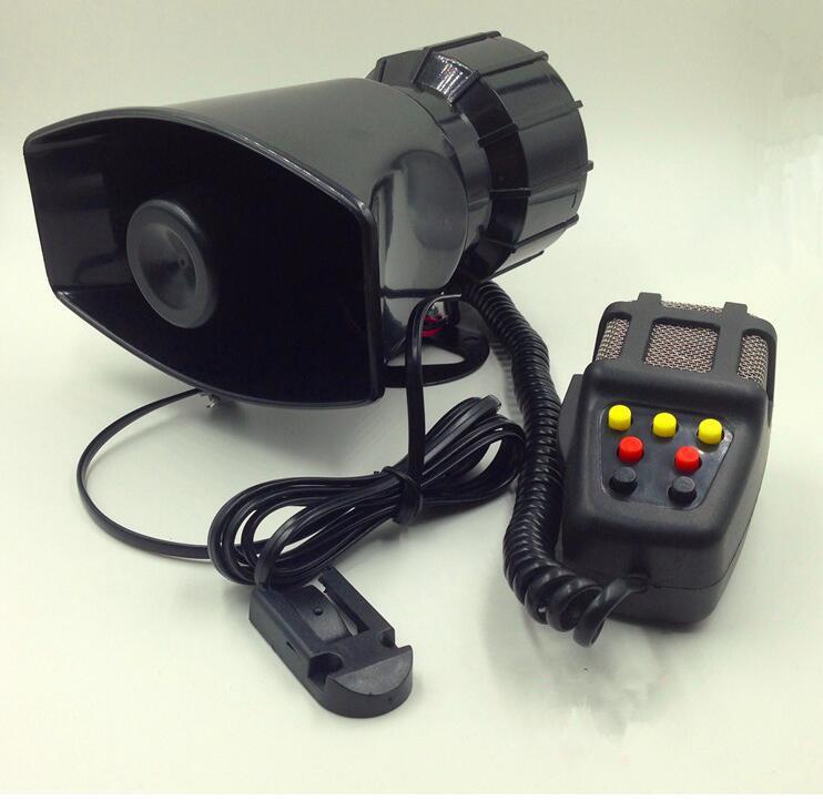 [해외]경찰 구급차 화재 PA 사이렌 경보 loudspeakerMIC 경고 DC12V 100W 7 톤 자동차 오토바이/DC12V 100W 7 tone  Car motorcycle Warning Police Ambulance Fire PA Siren Alarm louds
