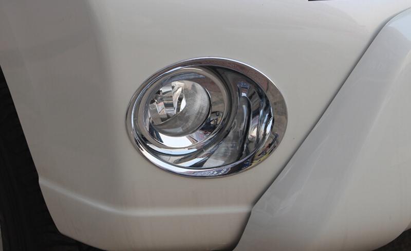 [해외]2016 2017 도요타 랜드 크루저 용 Prado FJ150 2014 2015 ABS 크롬 전면 안개등 라이트 커버 트림 2pcs / 세트/2016 2017 For Toyota Land Cruiser Prado FJ150 2014 2015 ABS Chrome