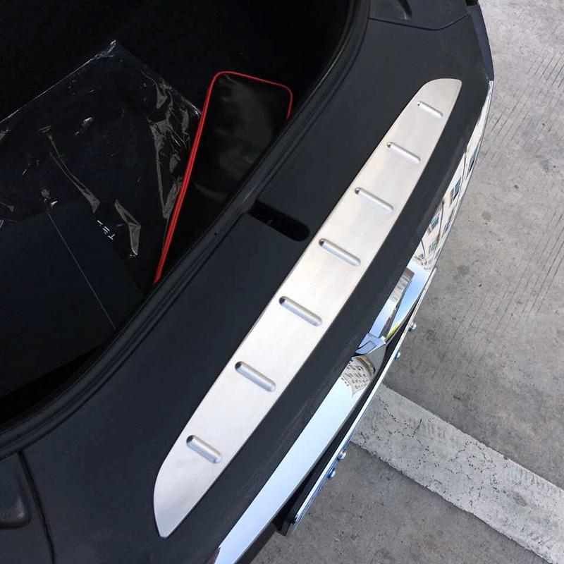 [해외]?테슬라 X 2016 2017 2018 액세서리 ExteriorFront 보관 상자 가드 후면 범퍼 플레이트 커버 트림 1pcs/ Fit  for  Tesla Model X 2016 2017 2018   Accessories ExteriorFront storag