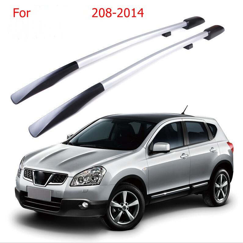 [해외]지붕 랙 박스 사이드 레일 바 릿지 캐리어 A 세트 닛산 QASHQAI 2008-2014 2009 2010 2011 2012 2013/Roof Rack Boxes Side Rails Bars Luggage  Carrier A Set For  Nissan QASH