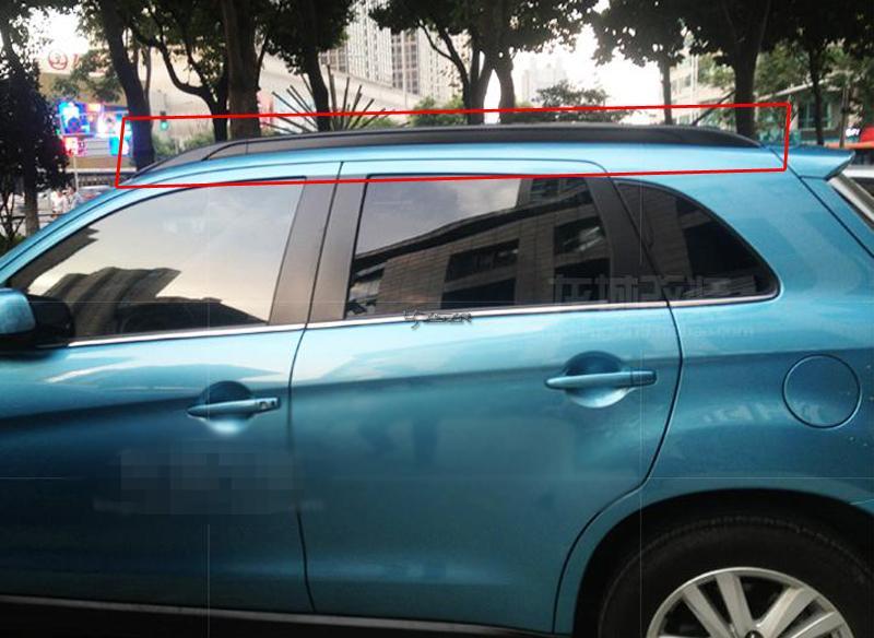 [해외]미쓰비시 ASX 2010 2011 2012 2013 2014 2015 블랙 사이드 바 레일 루프 랙 Z2AAE017/For Mitsubishi ASX 2010 2011 2012 2013 2014 2015 Black Side Bars Rails Roof Rack