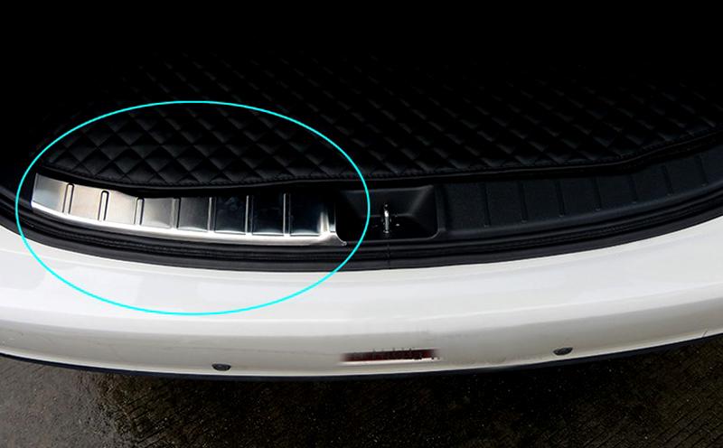 [해외]12-16 스테인레스 스틸 액세서리 Exterior Inner Rear Bumper Plate Cover Trim 2pcs for Peugeot 4008 2012 2013 2014 2015 2016/12-16 Stainless Steel  Accessories