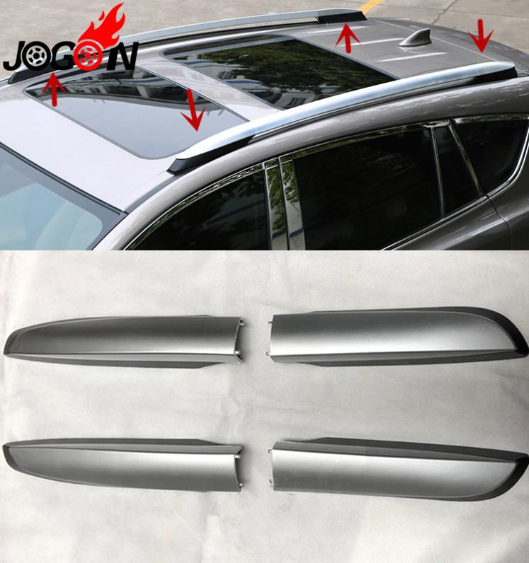 [해외]자동차 스타일링 4PCS 지붕 랙 레일 끝 보호기 커버 쉘 TOYOTA RAV4 2014 2015 2016 2017 액세서리/Car Styling 4PCS Roof Rack Rail End Protector Cover Shell For TOYOTA RAV4 20