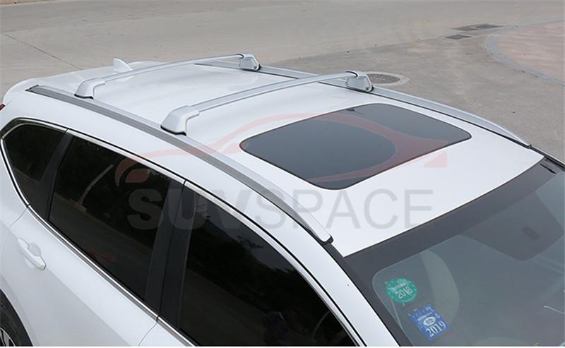 [해외]HONDA CRV CR-V 2017 알루미늄 가로장 가로장 선반을2 개의 PC은 십자가 막대기/2 Pcs Silver Cross Bar for HONDA CRV CR-V 2017 Aluminum Crossbar Roof Rail Rack