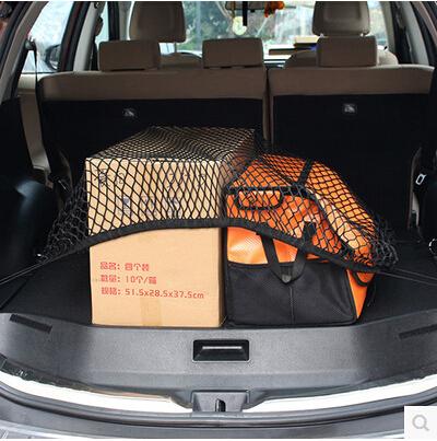 [해외]자동차 스타일링 뒷 카고 트렁크 스토리지 네트 가방 케이스 폭스 바겐 골프 GTI R20 R36 Jetta Tiguan POLO Passat CC EOS Scirocco/Car Styling Rear Cargo Trunk Storage Net Bag case F