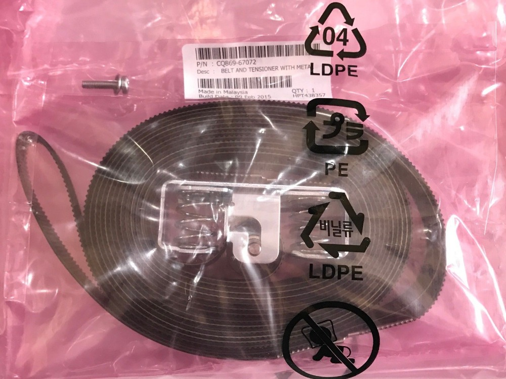 [해외]CQ869-67072 60 & Belt & amp; Tension Designjet Z6100 Z6200 5800 L25500 L26500 Fix 86:01 87:01 플로터 부품 /CQ869-67072 60& Belt & Tension D
