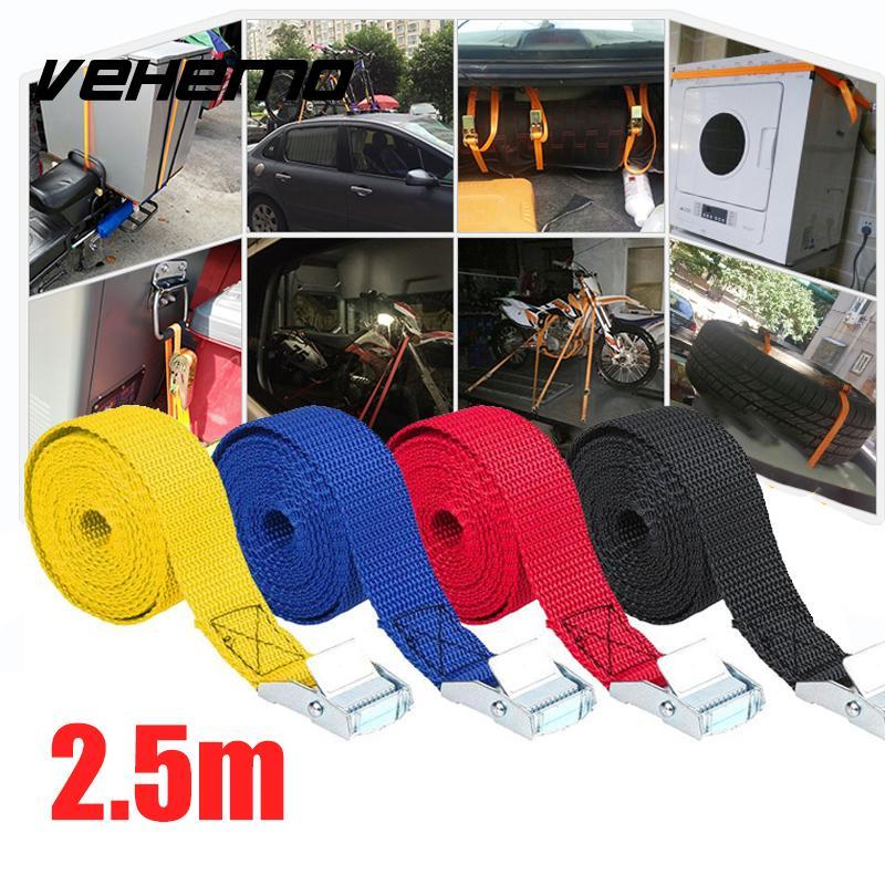 [해외]2.5M Car Boat 고정 스트랩 수하물 벨트 장력 RopeBuckle 4 색/2.5M Car Boat Fixed Strap Luggage Belt Tension RopeBuckle 4 Color