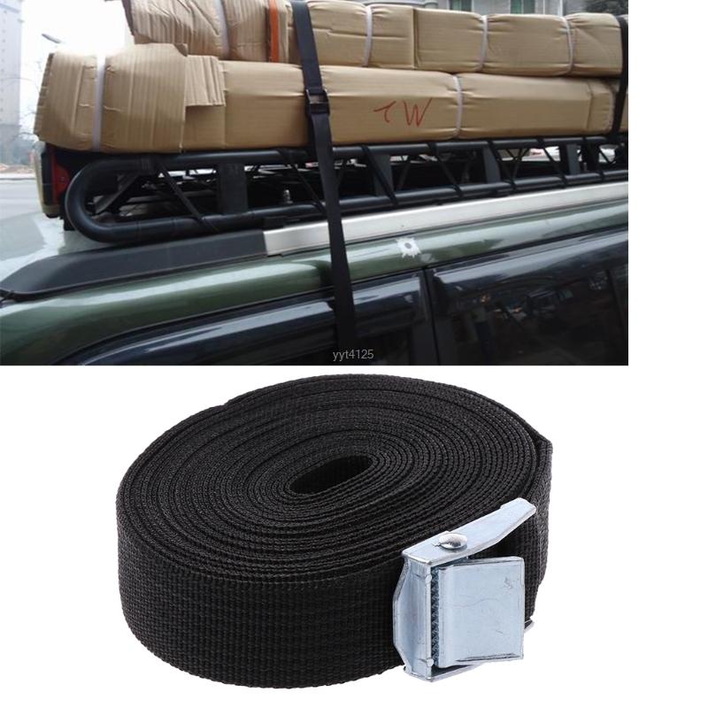 [해외]5M * 25mm 차 텐션 밧줄은 강력한 쇄석기 벨트 수화물 부대를 매듭을 짓는다화물 LashingMetal 버클을하십시오/5M*25mm Car Tension Rope Tie Down Strap Strong Ratchet Belt Luggage Bag Cargo