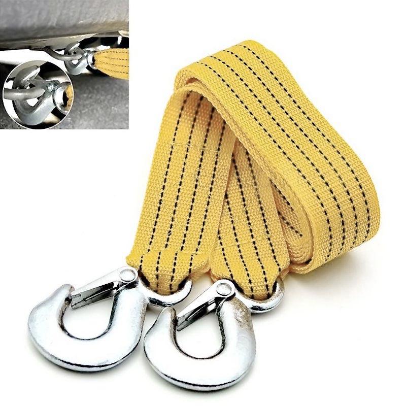 [해외]3M 3 톤 차량 견인 케이블 비상 사태 트레일러 Rope2 Anti-Slip Hooks Heavy 2017 XR657/3M 3 Tons Car Towing Cable Emergency Trailer Rope2 Anti-Slip Hooks For Heavy 20