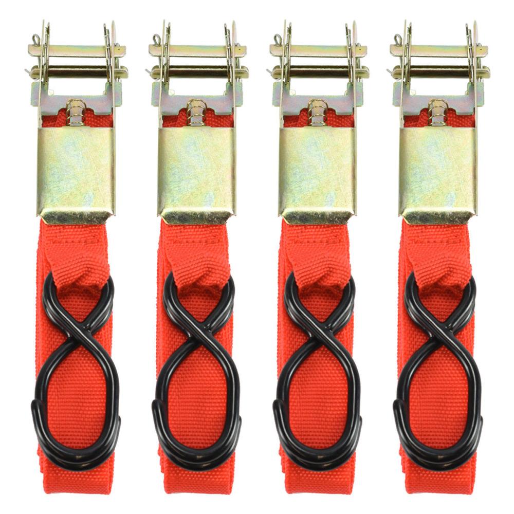 [해외]4PCS 15 * 0.9 인치 자동차 짐화물 합금 벅 테이프 스트랩 래칫 벨트 스트랩을 묶어 웨빙 고정 래칫 벨트 XNC/4PCS 15*0.9inch Car Luggage Cargo  Alloy Buck Tape Strap Ratchet Tie Down Carg