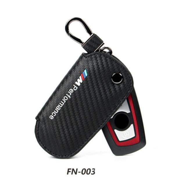 [해외] 가죽 키 홀더 케이스 커버 Bmw E90 F30 F34 F10 E70 E71 X1 X3 X4 X5 X6 1 2 3 4 5 6 7 시리즈 탄소 섬유 키 케이스/Genuine Leather Key Holder Case Cover For Bmw E90 F30 F34